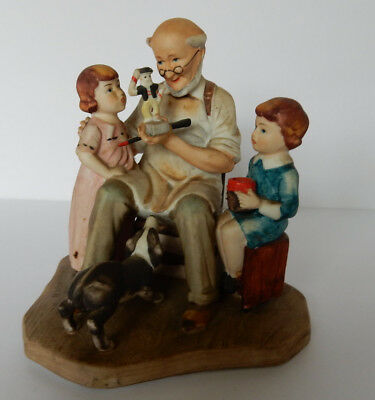 """Norman Rockwell Figurine """"The Toymaker"""""""