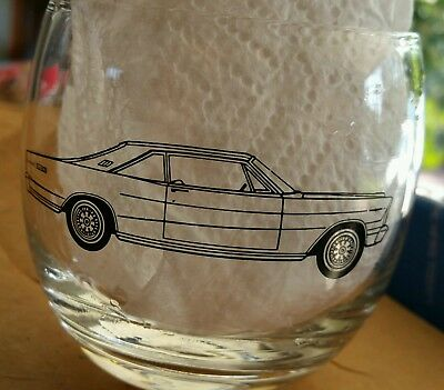 1966 ford galaxie dealer promo Glass rare automotive vintage collectible
