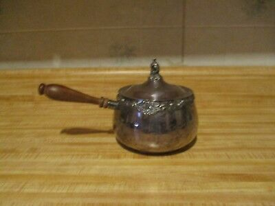Wallace Baroque Silverplate  saucepan with lid-5264-epns marked on bottom.