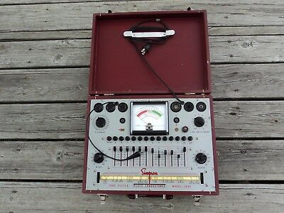 Simpson Model 1000 Tube Tester With Paperwork