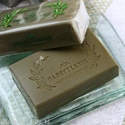 1 x PAPOUTSANIS Traditional Olive Oil 100% Natural Soap Bars 125g