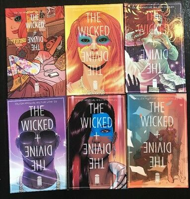 Wicked and the Divine Lot of Comics Issues 1 2 3 4 5 6