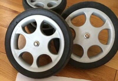 Mamas And Papas Sola Glide Zoom Replacement spare BACK WHEELS x 2