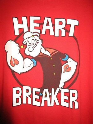"""Popeye red t-shirt, size M., by """"King Features"""", Heartbreaker"""