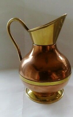 Vintage Peerage Copper And Brass Jug