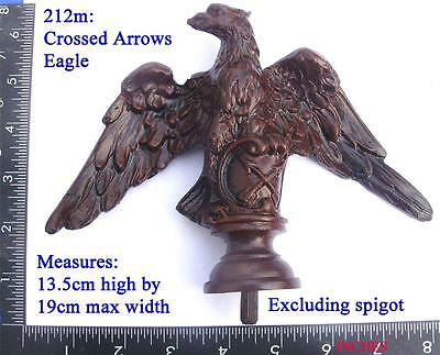 "212m Large ""Crosed Arrows"" ""HAC""  Eagle for Vienna regulator clock case / DIY"