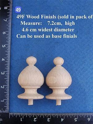*Pair of Clock / furniture Finials Style 49F