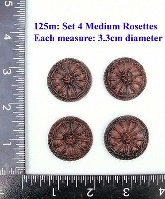 "125M ""4  Circular badges"" clock case / furniture DIY"