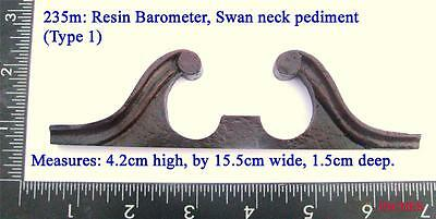 235m Small barometer resin  swan neck pediment