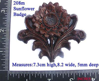 "208m  ""Flower shaped Badge"" for Vienna regulator clock cases,  DIY,"