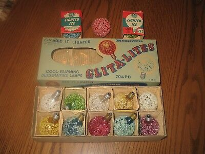Vintage Christmas Glita Snowball Lights By Renown