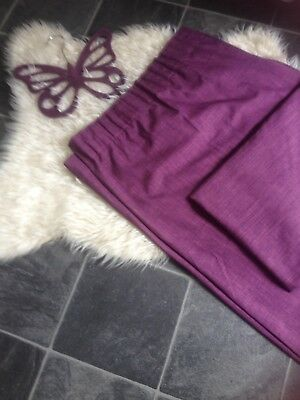 Stunning Purple Lined Curtains 72L46W & Velvet Hanger Immaculate Low P&p 10P!