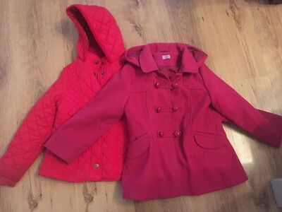 2 Girls Coats 5-6 Years Old