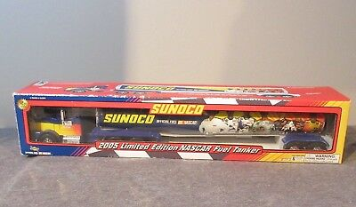 "Nib Sunoco 2005 Limited Edition 16"" Nascar Fuel Tanker Truck Pumps Petty"