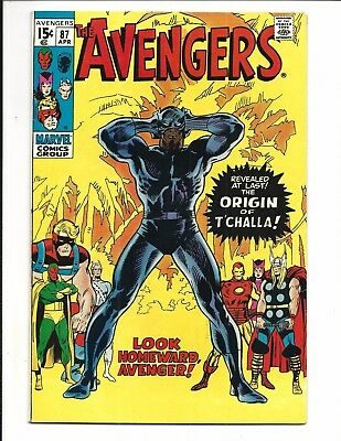 Avengers # 87 (Origin Of Black Panther, Apr 1971), Vf