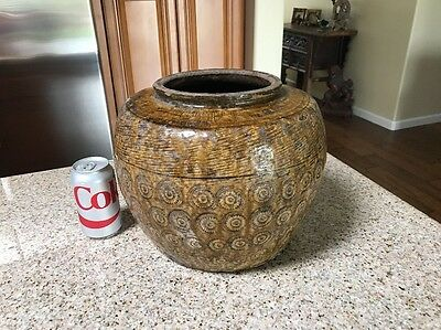 Ancient Antique Chinese Yuan Jin Dynasty Glazed Pottery Vase 1115 AD To 1368 AD