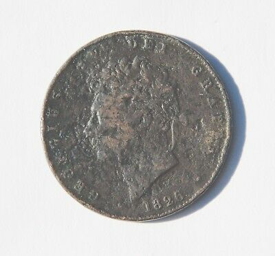 1826 George IV half penny coin in good condtion for 191 yrs old!