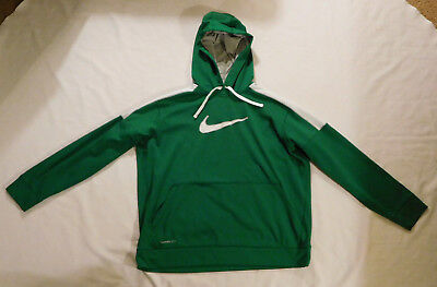 Nike Therma-Fit Green/White Hoodie Men's 2XL *Several Stains*