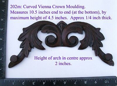 "202m Large ""Vienna top cresting""  clock case / furniture DIY"