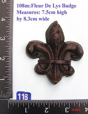 "118M ""Fleur De Lys Badge"" clock case / furniture DIY"