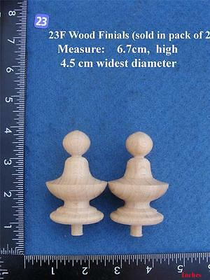 *Pair of Clock / furniture Finials Style 23F
