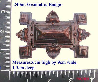 "240m  ""Geometric shaped Badge"" for Vienna regulator clock cases,  DIY,"
