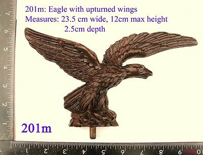 "201M ""Large Eagle with upturned wings clock case / furniture DIY"