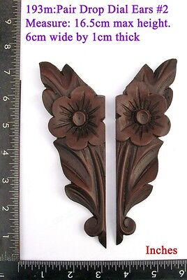 "193M ""Pair Replacement Ears"" pattern #2 clock case / furniture DIY"