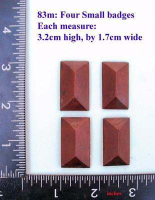 "TITLE: 83M ""4 Angular badges"" clock case / furniture DIY"