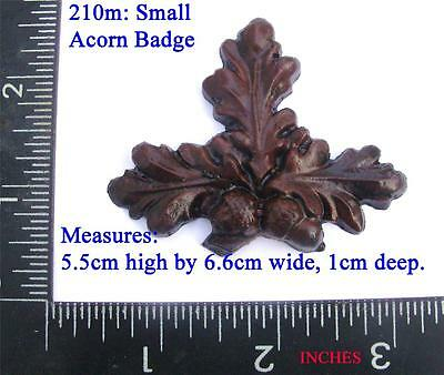 210m Acorn shaped Badge for Vienna regulator clock cases,  DIY,