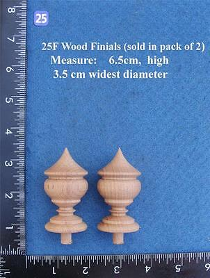 Pair of Clock / furniture Finials Style 25F