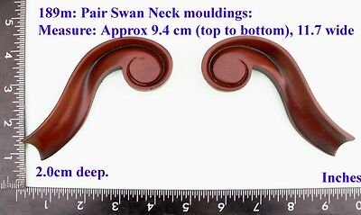 "189M ""2 Curved Mouldings"" clock case / furniture DIY"