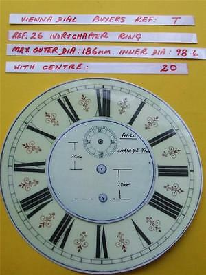 *Buyers Ref:T  Replacement laminate Ivory  Vienna Regulator Clock Dial option 18