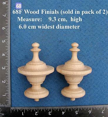 Pair of Clock / furniture Finials Style 68F