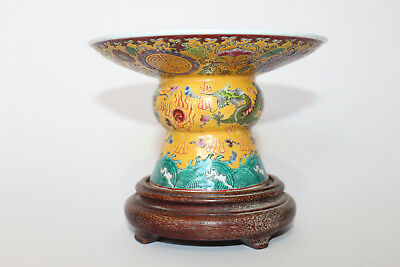 A Chinese porcelain censer Of baluster form with circular plateau