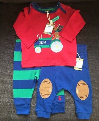 BABY JOULES - Bundle of 3 items Baby Boy Clothes Newborn 0-3 Months - New w Tags