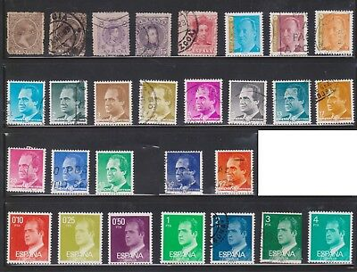 (U30-18) 1889-1998 Spain mix of 86 stamps valued to 1.25PTA (A) $10.00