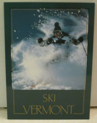 Snow Skier Wind Goggle Snow Slope Vermont Postcard