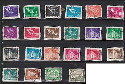 (U30-1) 1950-60 Romania mix of 66 stamps value to 14L (A)
