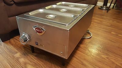 Wells Brand Stainless Commercial Food Warmer 3 Well/Pots/Pans Electric Steam