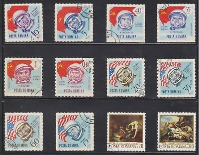 (U30-8) 1960s Romania mix of 15 stamps valued to 1.20L (H)