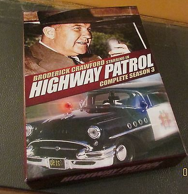 DVD--HIGHWAY PATROL--COMPLETE SEASON 3---Broderick Crawford