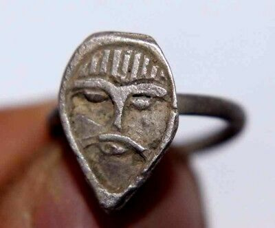 Viking Silver Finger Ring with ODIN Head 900 AD