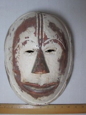 Vintage African Hand Carved Wooden Tribal Mask Wall Hanging.