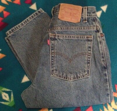 Levis Vintage 550 Blue Jeans Women's Relaxed Fit Tapered Leg 10 MIS M 28X30 NICE