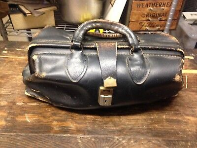 Black Leather Doctors Bag