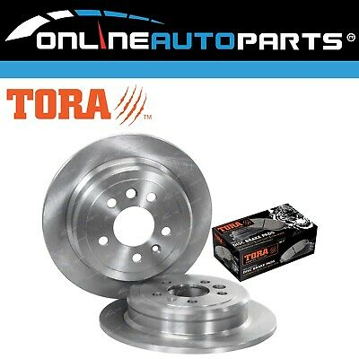 2 x Rear Disc Brake Rotors + Pads Pack Ford Falcon EF EL 1994 to 1998 RWD