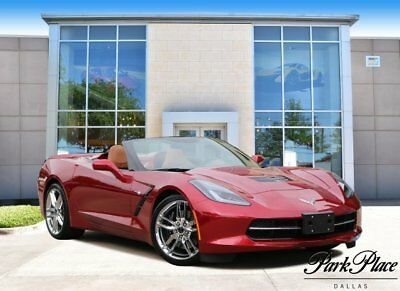 2014 Chevrolet Corvette Z51 Convertible 2-Door 2014 Convertible Used Gas V8 6.2L/376 6-Speed Automatic RWD Red