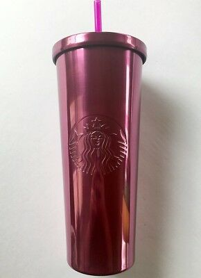 NEW 2017 Starbucks Stainless Steel Pink Berry 24 Fl Oz Tumbler
