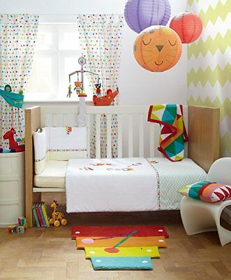 Mamas & papas pippop baby nursery multicoloured unisex curtain (pair) tie backs